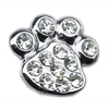 "Mirage Pet Products 3/8"" Slider Paw Charm Clear 3/8"""