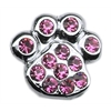 "Mirage Pet Products 3/8"" Slider Paw Charm Pink 3/8"""