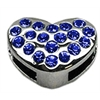 "Mirage Pet Products 3/8"" Slider Puffy Heart Charm Blue"