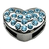 "Mirage Pet Products 3/8"" Slider Puffy Heart Charm Turquoise -"