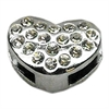 "Mirage Pet Products 3/8"" Slider Puffy Heart Charm Clear -"