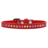 Mirage Pet Products One Row Confetti Size 8 Red Puppy Collar