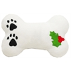 Mirage Pet Products Plush Christmas Dog Toy with Squeaker Holly Bone