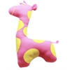 Mirage Pet Products Sweet Giraffe Plush Dog Toy Pink and Yellow