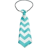 Mirage Pet Products Big Dog Neck Tie Chevron Light Blue