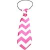Mirage Pet Products Big Dog Neck Tie Chevron Bright Pink