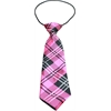 Mirage Pet Products Big Dog Neck Tie Plaid Pink