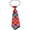 Mirage Pet Products Big Dog Neck Tie Plaid Red