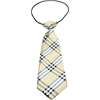 Mirage Pet Products Big Dog Neck Tie Plaid Cream