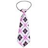 Mirage Pet Products Big Dog Neck Tie Pink Argyle