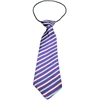 Mirage Pet Products Big Dog Neck Tie Purple and Aqua Stripes