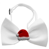 Mirage Pet Products Santa Hat Chipper White Pet Bow Tie