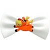Mirage Pet Products Reindeer Chipper White Pet Bow Tie