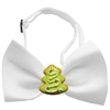 Mirage Pet Products Christmas Tree Chipper White Pet Bow Tie