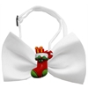 Mirage Pet Products Stocking Chipper White Pet Bow Tie