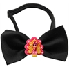 Mirage Pet Products Pink Turkey Chipper Black Bow Tie