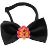 Mirage Pet Products Pink Turkey Chipper Black Bow Tie