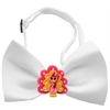 Mirage Pet Products Pink Turkey Chipper White Bow Tie