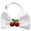 Mirage Pet Products Red Cherry Chipper White Bow Tie