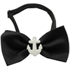 Mirage Pet Products White Anchors Chipper Black Bow Tie