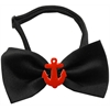 Mirage Pet Products Red Anchors Chipper Black Bow Tie