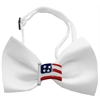 Mirage Pet Products American Flag Chipper White Bow Tie