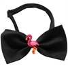 Mirage Pet Products Pink Flamingo Chipper Black Bow Tie