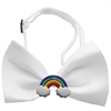 Mirage Pet Products Rainbow Chipper White Bow Tie