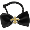 Mirage Pet Products Gold Fleur de Lis Chipper Black Bow Tie