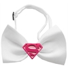 Mirage Pet Products Pink Super Chipper White Bow Tie