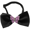 Mirage Pet Products Purple Butterflies Chipper Black Bow Tie