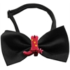 Mirage Pet Products Pink Cowboy Boots Chipper Black Bow Tie