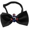 Mirage Pet Products Patriotic Anchors Chipper Black Bow Tie