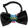 Mirage Pet Products Blue Owls Chipper Black Bow Tie