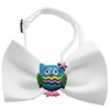 Mirage Pet Products Blue Owls Chipper White Bow Tie