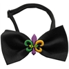 Mirage Pet Products Mardi Gras Fleur de Lis Chipper Black Bow Tie