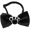 Mirage Pet Products Black Paws Chipper Black Bow Tie
