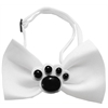 Mirage Pet Products Black Paws Chipper White Bow Tie