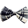Mirage Pet Products Dog Bow Tie Plaid White