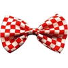Mirage Pet Products Dog Bow Tie Checkered Red