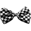 Mirage Pet Products Dog Bow Tie Checkered Black