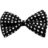 Mirage Pet Products Dog Bow Tie Swiss Dot Black