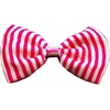 Mirage Pet Products Dog Bow Tie Stripes Pink