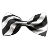 Mirage Pet Products Dog Bow Tie Stripes White