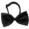 Mirage Pet Products Plain Black Bow Tie