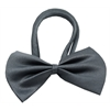Mirage Pet Products Plain Grey Bow Tie