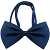 Mirage Pet Products Plain Navy Blue Bow Tie