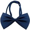 Mirage Pet Products Plain Navy Blue Bow Tie