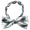 Mirage Pet Products Dog Bow Tie Grey Chevron