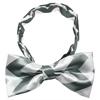 Mirage Pet Products Dog Bow Tie Grey Chevron